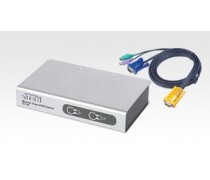 ATEN CS-72E 2-port PS/2 desktop slim KVM with cables