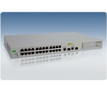 AT-FS750/24POE 24 x 10/100TX, 12 POE capable, + 2 1000T/SFP Web Smart Switch