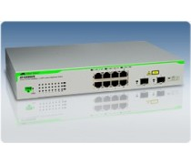 AT-GS950/8 10/100/1000T x 8 ports WebSmart switch with 2 combo SFP ports