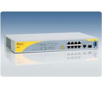 AT-8000/8PoE 10/100TX x 8 ports PoE Fast Ethernet switch with 1 combo copper Gigabit port and 1 SFP bay