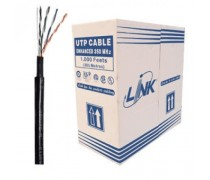 LINK CAT6 UTP, PE OUTDOOR w/Cross Filler, 23 AWG (Double Jacket) (305 M./Reel)