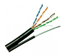 LINK US-9106M CAT6 UTP, PE OUTDOOR w/Cross Filler, 23 AWG, w/Drop Wire (Single Jacket)
