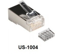 Link Shield CAT 6 RJ45 PLUG, 2 layer with pre-insert bar US-1004
