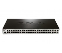 D-Link DES-3200-52 48-Port Fast Ethernet managed L2 switch with 2 Gigabit SFP ports and 2 Gigabit Combo BASE-T/SFP ports