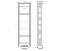 "ETSI 19"" TELECOM OPEN RACK (2000H x 600W x 300D mm.)"