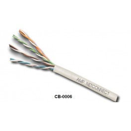 CB-0006 AMP 6-57826-2 CAT 5E UTP CABLE, CMR ,350 MHz (สีขาว) 305 M./Box