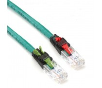 US-5142 - LINK CAT 6 Secured Key Lock RJ45 - RJ45 PATCH CORD 2 M.