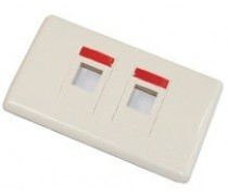 AMP AM-3032 FACE PLATE DECORATOR 2 PORT (Almond)
